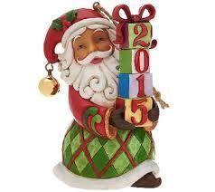 jim shore heartwood creek 2015 dated santa ornament page 1 qvc