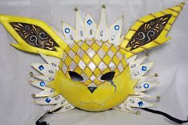 carnaval masks jolteon carnival mask by cultureshock007 on deviantart