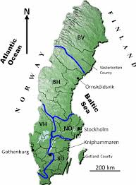 map of sweden map of sweden showing the boundaries of the fi ve water