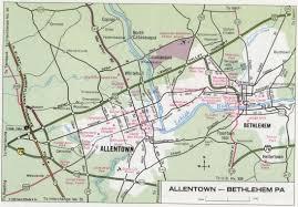 Pennsylvania Road Map by Allentown Bethlehem Map