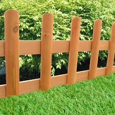 pack of 2 wooden picket fence panels outdoor garden flowerbed