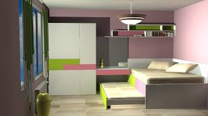 small nice design interior for bedroom in autocad that has pink