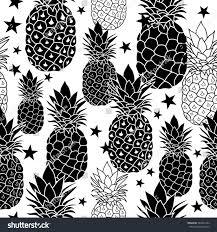 black white hand drawn pineapples vector stock vector 584051284