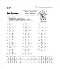 multiplying fractions worksheet templates download free