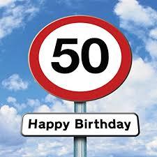 twizler 50th birthday card roadsign 50 year old age 50