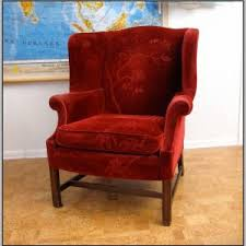Velvet Wingback Chair Red Velvet Wingback Chairs Chairs Home Decorating Ideas Hash