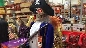 home depot halloween 2016 6ft led skeleton pirate with parrot