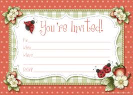 free ladybug party invitations printable party kits