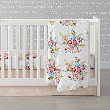 Flannel Crib Bedding Floral Flannel Crib Bedding The Land Of Nod Cinderella De