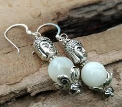moonstone buddha moonstone buddha earrings buddha floating on a cloud of moonstone