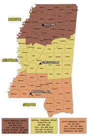 Mississippi Zip Code Map by Deer Program