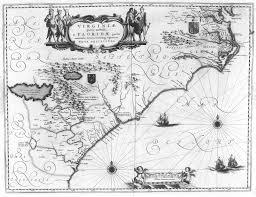 Virginia North Carolina Map by 1640 Map Of North Carolina South Carolina And Virginia Latin