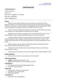 Quality Engineer Sample Resume Structural U0026 Piping Qc Inspector Cv Pdf