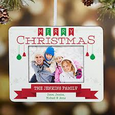 personalized picture frame ornament holiday banner