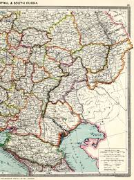 Map Russia Central And South Russia East 1908 Feefhs