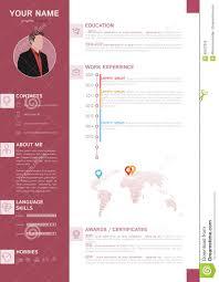 Classy Resume Templates Elegant Minimalist Style Resume Cv Template Stock Vector Image
