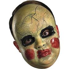 scary clown halloween mask amazon com disguise costumes smeary doll face mask clothing