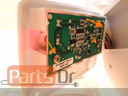 whirlpool ice maker red light flashing ice level optics board diagnostics replacement