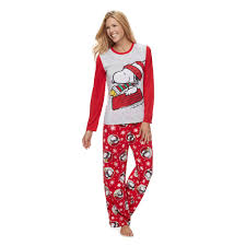 jammies for your families peanuts snoopy woodstock sledding top