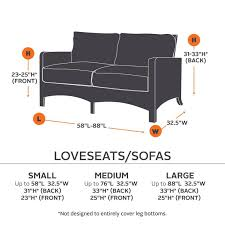 Average Sofa Dimensions by Ravenna Sofa Loveseat Patio Furniture Covers
