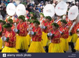 members of the na koa ali i hawaii all state marching band perform