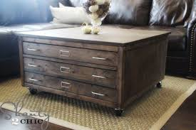 Diy Large Coffee Table by Ana White 6 Drawer Library Coffee Table Diy Projects