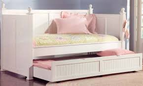 trundle daybed in white semi gloss finish by coaster 300026