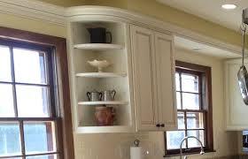 Kitchen Cabinet Shelving Ideas Rounded Corner Kitchen Cabinet Shelves On Cabinets Shelf Unit