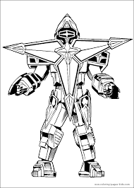 power rangers color coloring pages kids cartoon