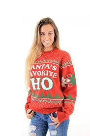 christmas sweaters santa s favorite ho christmas sweater for women
