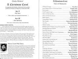 a carol printed program december 5 2003
