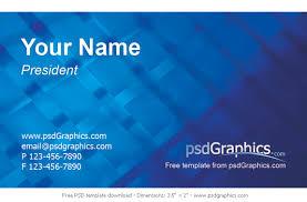 Template Business Card Psd Free Modern Business Card Psd Design On Great Vector Blue