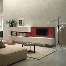 contemporary living room wall unit lacquered wood by piero