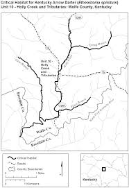 County Map Kentucky Federal Register Endangered And Threatened Wildlife And Plants
