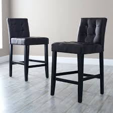 Grey Leather Bar Stool Stools Hasina Gray 26 Inch Counter Stool Set Of 2 Dark Gray
