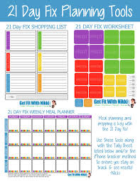 Menu Planner With Grocery List Template 21 Day Fix Meal Plan Template Best Business Template