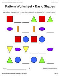 free worksheets pattern worksheets with shapes free math