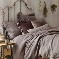 wamsutta vintage linen twin duvet cover in raisin