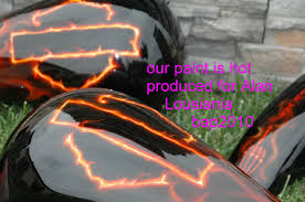 custom motorcycle paint jobs custom painted flames by bad paint