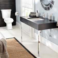 Concrete Floor Bathroom - how to stain concrete floors for a modern basement with a stained