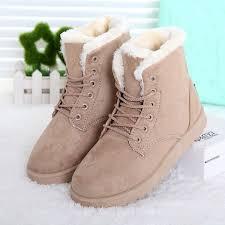 womens flat boots uk fashion winter flat lace up warm ankle boots 21