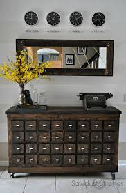 apothecary dresser ikea cubbies into a rustic apothecary sawdust 2 stitches