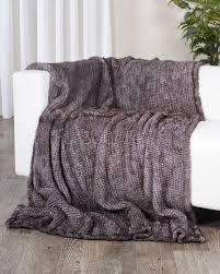 fur throws for sofas grey knit mink fur throw blanket fursource com