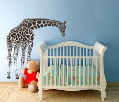 large nursery wall decals large giraffe baby nursery wall decals nursery vinyl decal