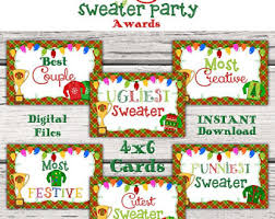 Ugly Christmas Sweater Party Decorations by Ugly Sweater Awards Etsy