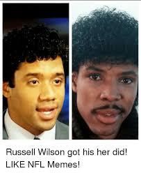 Russell Wilson Memes - russell wilson got his her did like nfl memes meme on me me