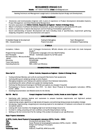 Testing Resume For 1 Year Experience Electronics Engineer Resume Foramt