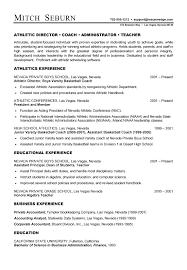 Soccer Resume Samples by Resume For Soccer Coach 1294