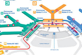 Los Angeles Airport Map by Where To Eat At O U0027hare International Airport Ord Eater Chicago
