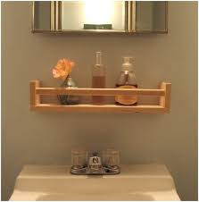 Woodworking Shelves Design by Bathroom White Wood Bathroom Shelf With Towel Bar Magnificent